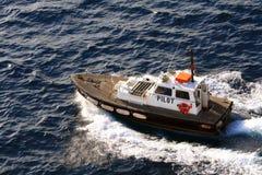 Rettungsboot im Mittelmeer Stockfoto
