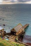 Rettungsboot-Station-Speicher Stockfoto