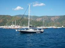 Rettungsboot-Tapete der Türkei Marmaris Stockbild