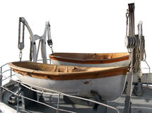 Rettungsboote auf dem Heck des Behälters Lizenzfreie Stockfotografie