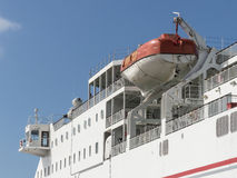 RettungsbootNotausrüstungs-Schiffsboot Lizenzfreies Stockfoto