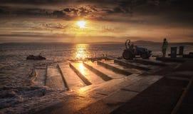 Rettungsbootprodukteinführung bei Aberavon Stockfotografie