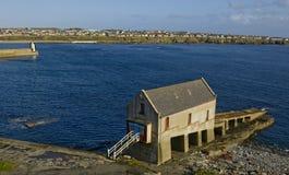 Rettungsbootstation, Ölerfilz, stockfotografie
