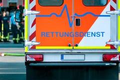 Rettungsdienstfahrzeug auf Operation Lizenzfreies Stockbild