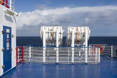 RettungsfloßNotausrüstungs-Schiffsboot Stockfoto