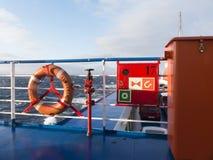 RettungsgürtelNotausrüstungs-Schiffsboot Lizenzfreie Stockfotos