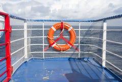 RettungsgürtelNotausrüstungs-Schiffsboot Lizenzfreies Stockfoto