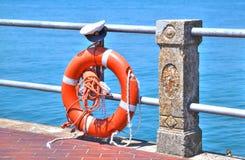 Rettungsgürtel in glänzender Orange Lizenzfreie Stockfotografie