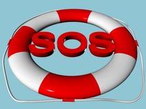 Rettungskreis mit Text Stockbilder