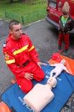 Rettungslehrer stockbild