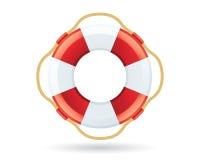 Rettungsring-Ikone auf Weiß Lizenzfreies Stockfoto