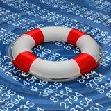 Rettungsring im digitalen Meer Lizenzfreie Stockbilder