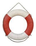 Rettungsringaltes lokalisiert auf Weiß lizenzfreies stockbild