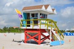 Rettungsturm, Miami Beach Lizenzfreie Stockfotos