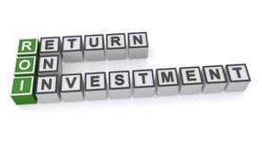 Retur på investering Arkivfoton