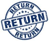 return blue grunge round rubber stamp Royalty Free Stock Photo