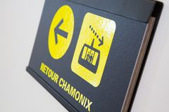 Return chamonix sign Royalty Free Stock Image