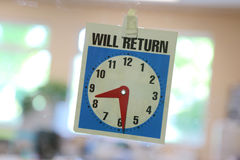 Return Clock Royalty Free Stock Images