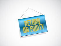 Return on equity banner sign concept Royalty Free Stock Image