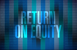 Return on equity binary sign concep Stock Photos