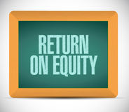 Return on equity board sign concept Stock Photo