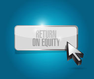 Return on equity button sign concept Royalty Free Stock Images