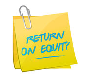 Return on equity memo post sign concept Stock Images