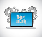 Return on equity tech computer sign concept Royalty Free Stock Photos