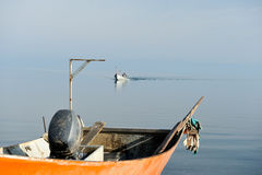 The return of fisherman Royalty Free Stock Image