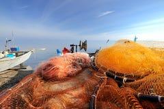 The return of fisherman Stock Photos