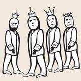 Return of four kings Royalty Free Stock Photo