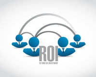 Return on investment business people network. Illustration design over a white background Royalty Free Stock Photos