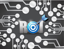 Return on investment circuit board illustration Royalty Free Stock Image