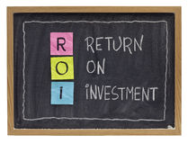 Return on investment concept stock images