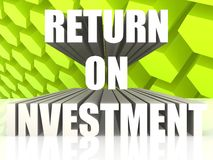 Return On Investment. Image with white background Stock Photos