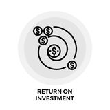 Return on Investment Line Icon. Return on Investment icon vector. Flat icon isolated on the white background. Editable EPS file. Vector illustration Royalty Free Stock Images