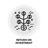 Return on Investment Line Icon. Return on Investment icon vector. Flat icon isolated on the white background. Editable EPS file. Vector illustration Stock Photography