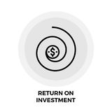 Return on Investment Line Icon. Return on Investment icon vector. Flat icon isolated on the white background. Editable EPS file. Vector illustration Stock Photo