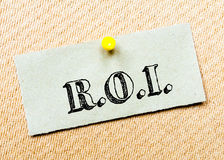 Return on Investment Message. Concept Image Royalty Free Stock Photo