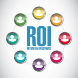 Return on investment people network illustration Stock Photo