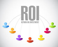 Return on investment people network illustration. Design over a white background Stock Photography