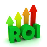 Return on investment roi concept 3d illustration Royalty Free Stock Photos