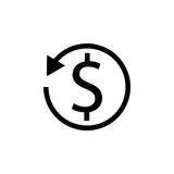 Return on investment solid icon Royalty Free Stock Photography