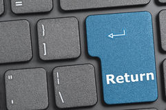 Return key on keyboard Stock Photos