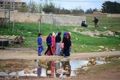 Return into Kobane Stock Image
