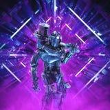 Return of the quantum warrior stock image