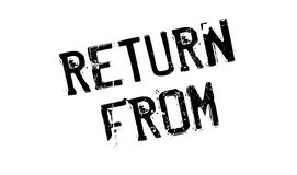 Return From rubber stamp Royalty Free Stock Images