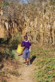 The return from school to an African child, Tanzania, Africa 76 Royalty Free Stock Image