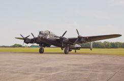 Return from taxi run, Lancaster Bomber. Royalty Free Stock Images