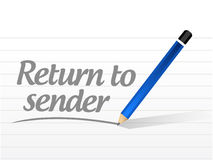 Return to sender message concept illustration. Design over white Royalty Free Stock Photo